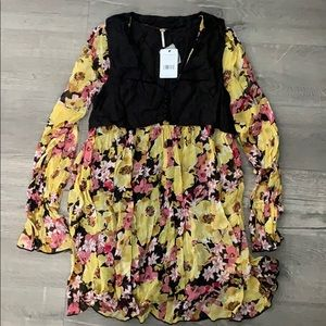 NWT. Free People Floral Dress .
